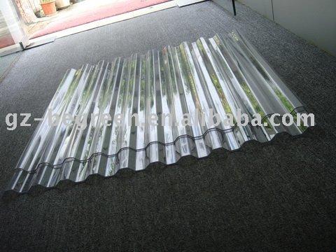 pc hoja de techo corrugado techo de policarbonato