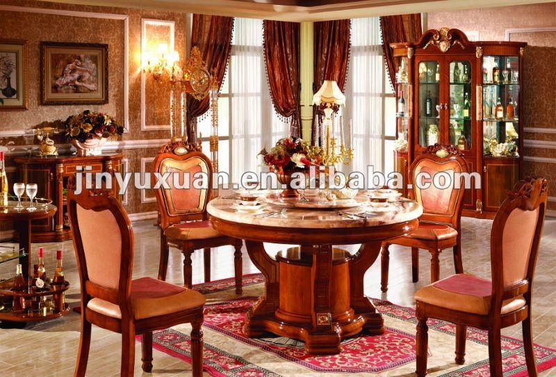 F brica de ofrecer neo europea cl sica mesa redonda con for Comedores redondos clasicos