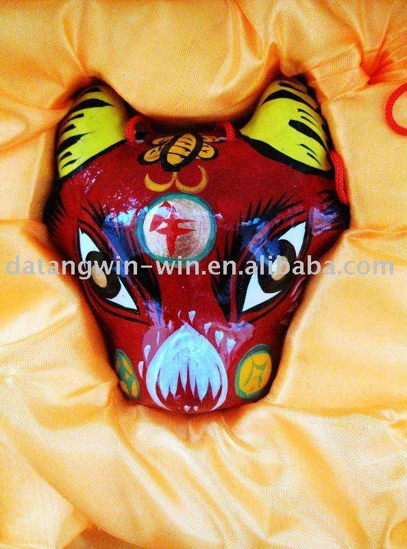 Marusero • Gari (7.0) Chinese_Traditional_Handmade_Clay_Figurine_Sheep_of_Twelve_Chinese_Zodiac_Signs