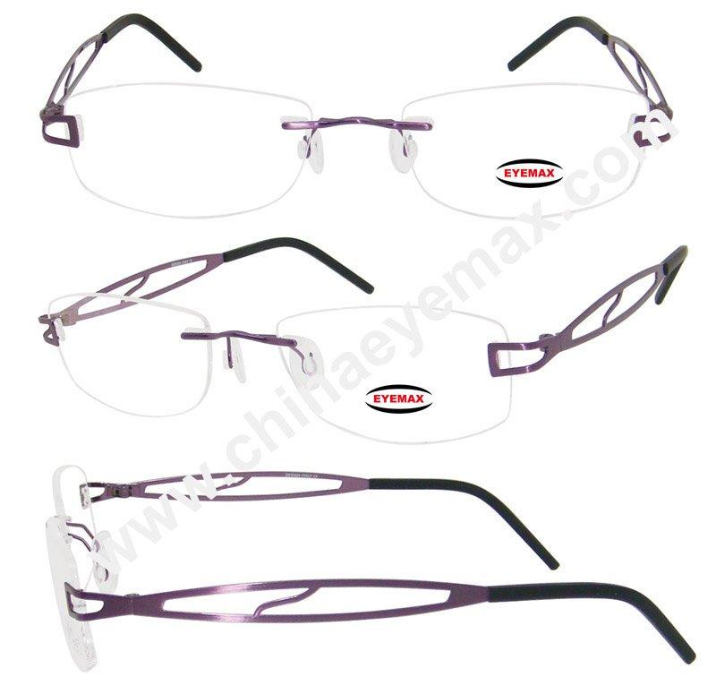 Womens rimless eyeglass frame - TheFind
