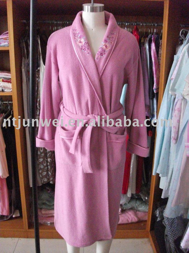 Bata De Baño Extra Grande:Bata de baño de las señoras, bata de baño, robe, nighgown, ropa de
