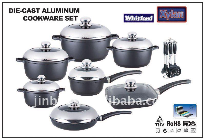 Morir fundici n de aluminio utensilios de cocina conjunto for Utensilios de cocina de aluminio