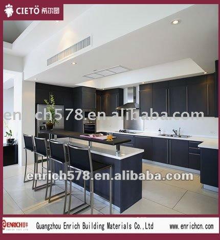 gabinete de cocina brillante de acrilico alto gabinete de cocina