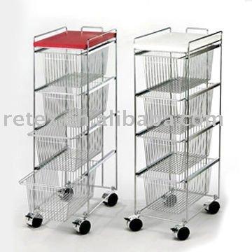 Carrello da cucina di design 4 tier carrello cassetto for Carrello design cucina