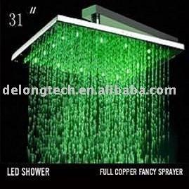 31 12 st ck led rgb farbe edelstahl regen dusche led. Black Bedroom Furniture Sets. Home Design Ideas