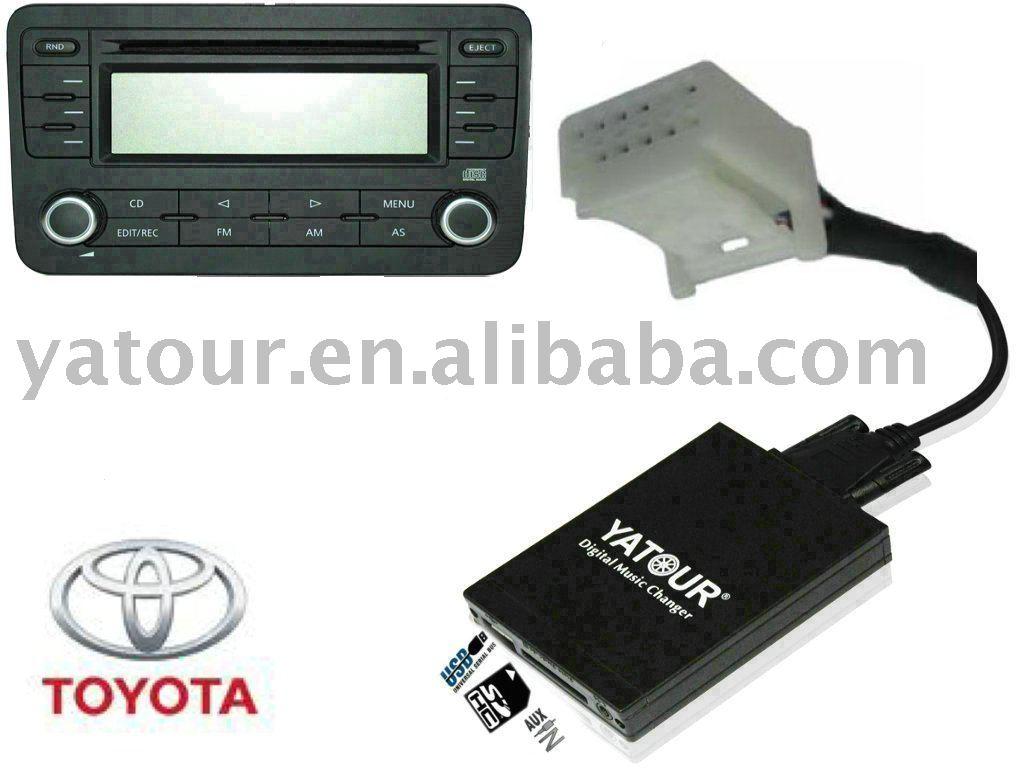 carro mp3 interface cd changer adaptador para usb sd para o brinquedo 6 6 pequeno auris. Black Bedroom Furniture Sets. Home Design Ideas