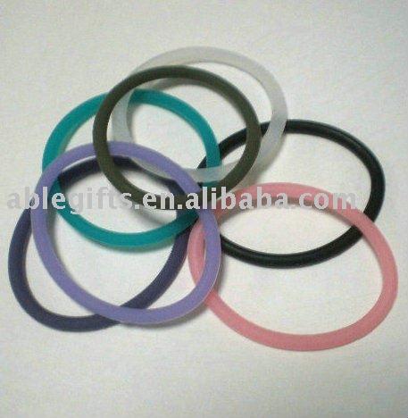 de caucho de silicona elastico del pelo del anillo sets de regalo