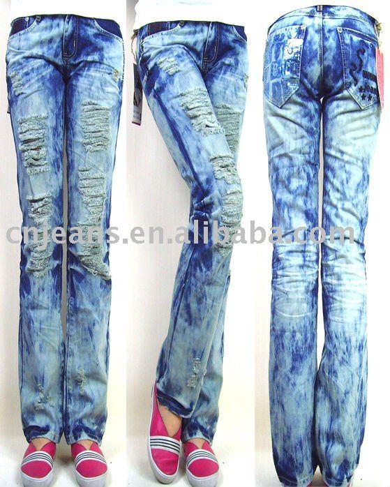 De encaje decorar las mujeres de moda los pantalones vaqueros pantalones vaqueros identificaci n - Decorar pantalones vaqueros ...