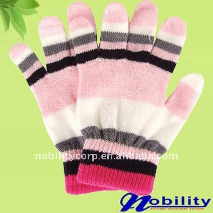 Цветные зимой детская мода волшебный рабочие перчатки russian