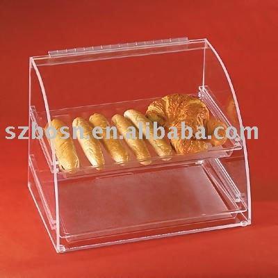 Acrylbrot anzeige plexiglas kuchen kabinett plexiglas