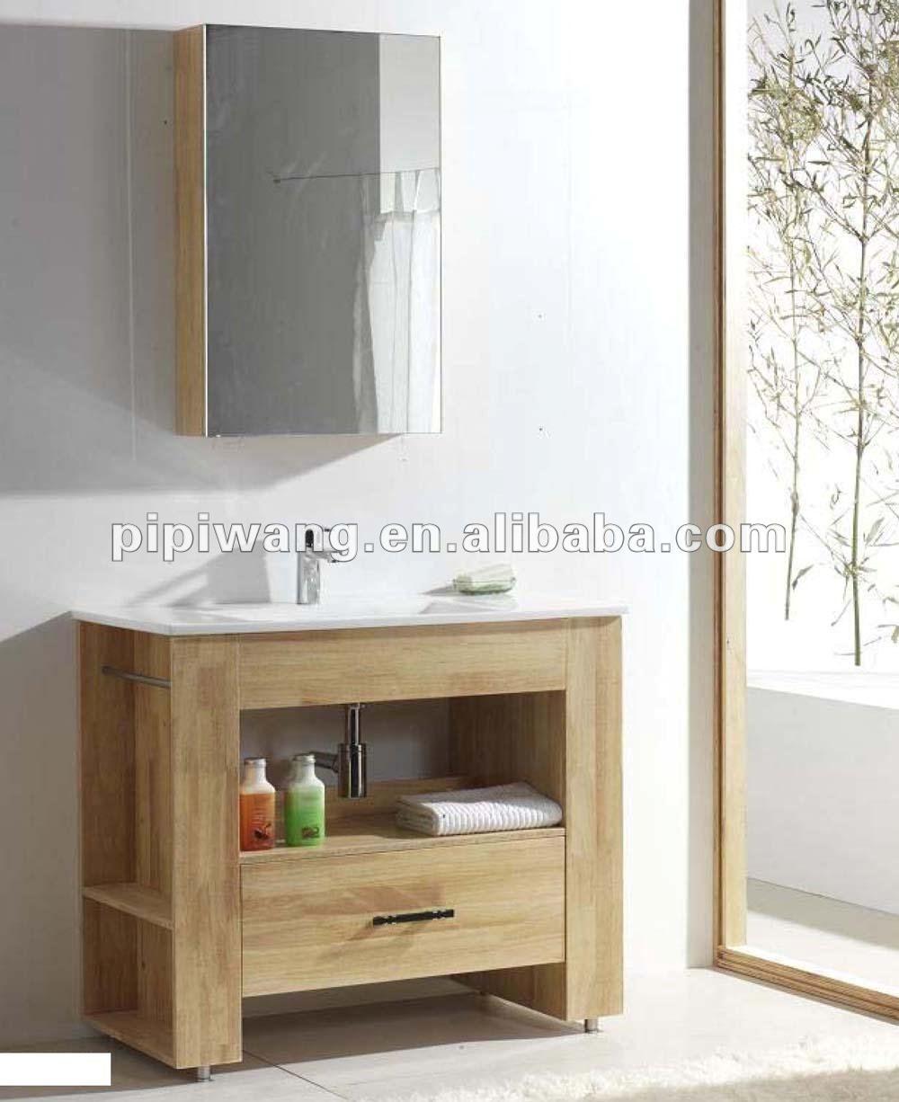 Moderno 90 cm teak massello mobili da bagno in legno - Mobili bagno in legno ...