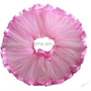 tutu cor-de-rosa recém-nascido da fita
