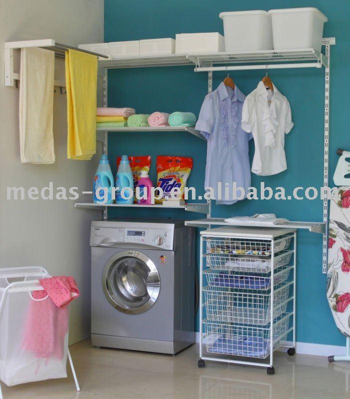 Lavander a organizador almacenamiento y organizaci n del - Organizador de lavanderia ...