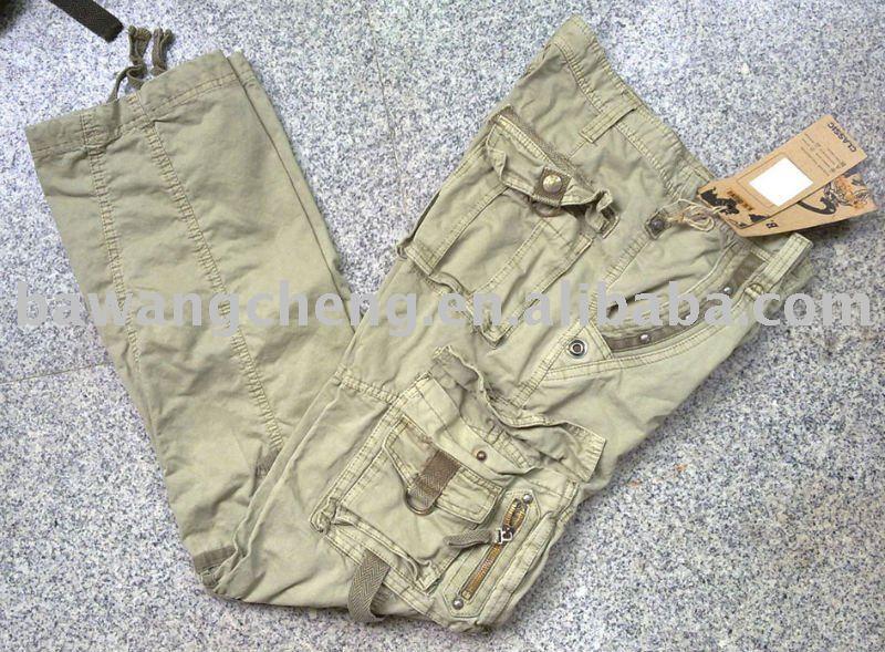 мешковатые брюки цвета хаки