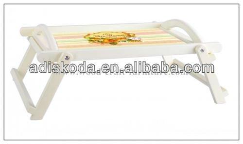 европейский стиль складной деревянный стол поднос с 2 ручками и картина