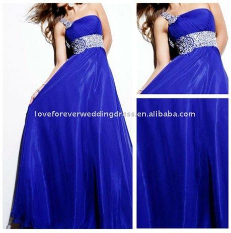 Designer Evening Dress on Uno   Hombro Caliente Venta Azul De Dise  O Formal Ni  As Cargan
