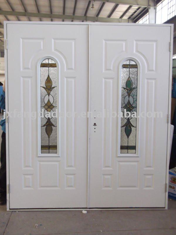 Doble hoja de la puerta exterior metal pictures - Puertas doble hoja ...