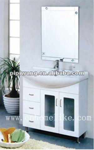 Moderno 100 cm blanco mdf baratos muebles de ba o cuarto for Set de bano baratos