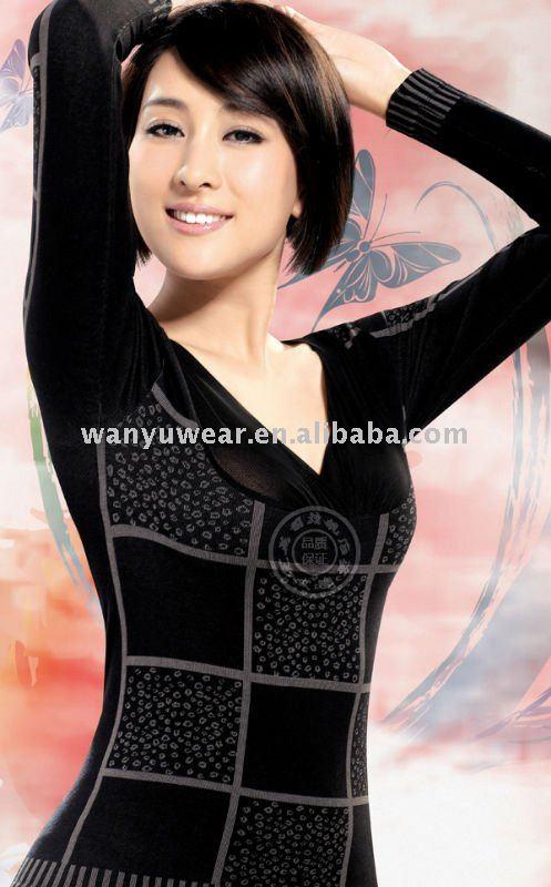 De moda 2012 mujeres sin ropa interior t rmica largo johns for Modelos sin ropa interior