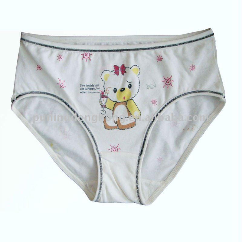 Suerhuai Knitting Underwear Co Ltd : De algodón blanco bragas dibujos animados para los