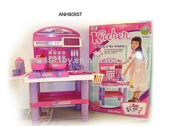 أدوات المطبخ من البلاستيك للاطفال 34pcs