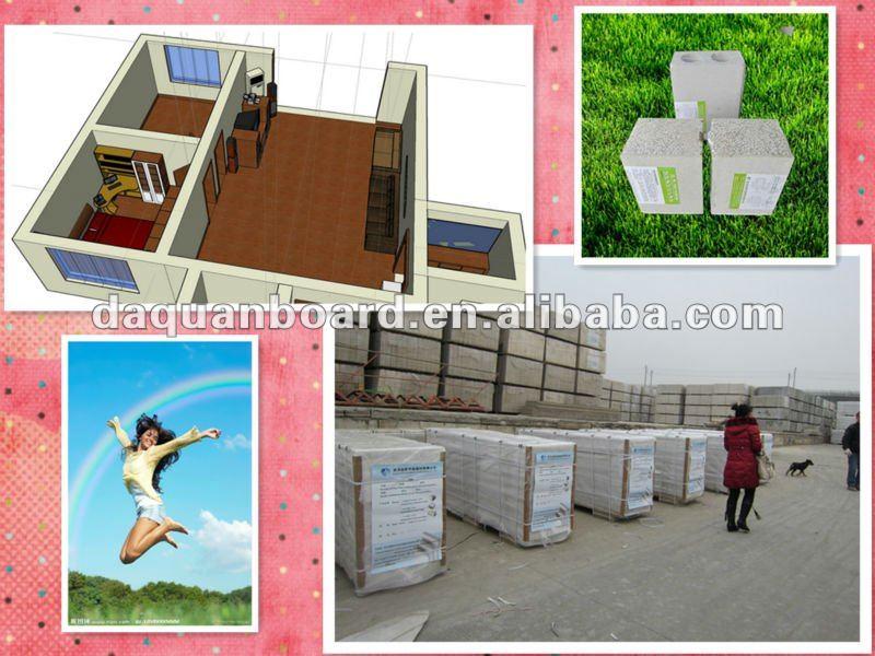 Panneau sandwich de mur int rieur de maison d 39 isolation for Panneau ciment exterieur