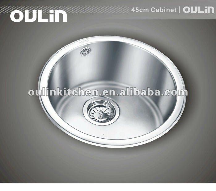 304in acciaioinox a vasca singola barra cucina lavello rotondo olo 358 dispersore di cucina - Lavello cucina rotondo ...