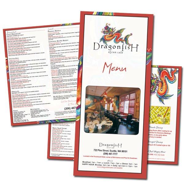جعل تصميم قوالب مطعم القائمة الطباعة