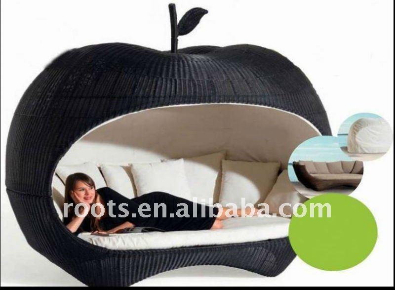 lit rond lit de jardin lit de loisirs rotin lit de pommes outils de jardin id du produit. Black Bedroom Furniture Sets. Home Design Ideas