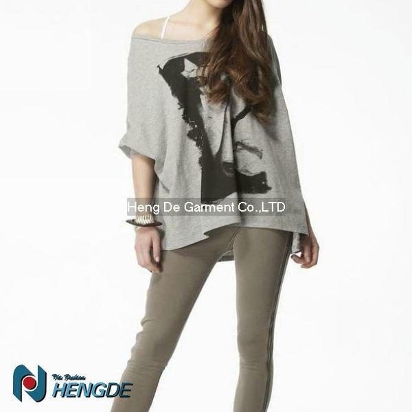 Dama blusa de patrón con alas de murciélago - damas manga blusa ...