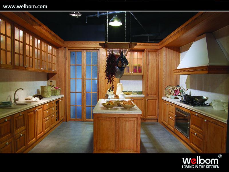 الخشب الصلب تصميم المطبخ الدولاب