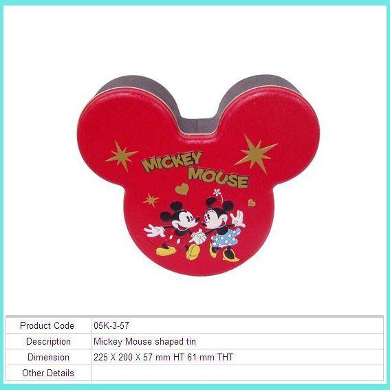 mickey mouse de regalo caja de la lata