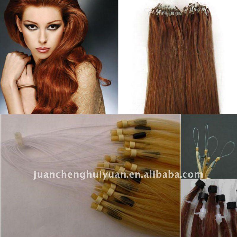 golden_brown_hair_weaves_for_micro_braids_micro_ring_loop_hair