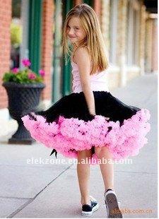 O tutu das crianças PPQ010 Latin contorna o vestido multicolor da princesa do pettiskirt