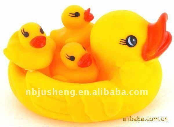 Hice Del Baño Color Amarillo:Hermosa madre de color amarillo pato de baño—- js10006- 1-Animales