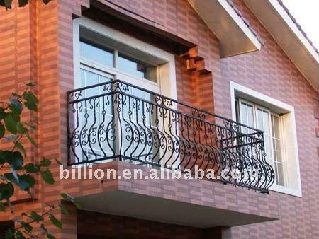 Deck railingswoodglasswrought ironcable rails stairway - Rejas de hierro forjado ...