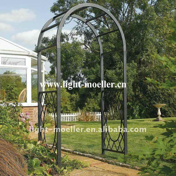 Entrances on pinterest wrought iron garden arches and - Pergolas de metal para jardin ...