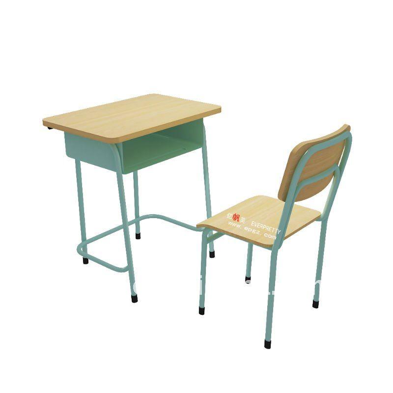 armature en m tal l ve d 39 cole primaire bureau et chaise avec plateau en bois lots d. Black Bedroom Furniture Sets. Home Design Ideas