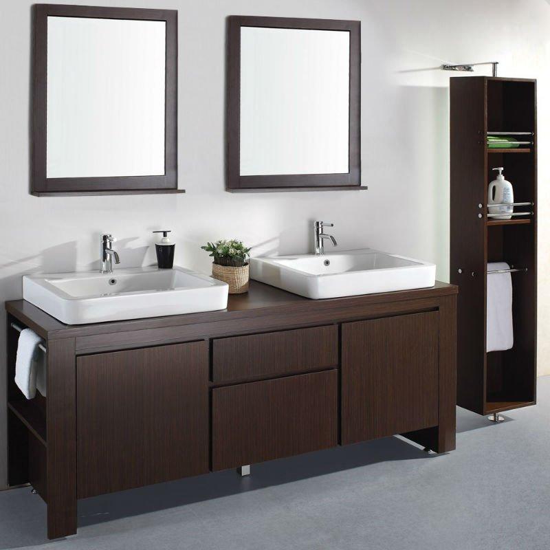"""Lavabos Para Baño Modernos:72 """" modern doble espresso muebles de baño ( mb-010 )-Cuarto de"""