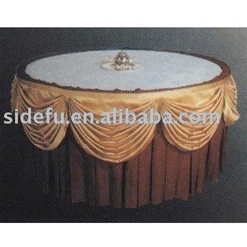Table Skirting and Table Cloth مدل روميزی ميز گرد زیبا