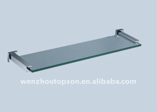 Estantes De Acero Para Baño:Acero inoxidable estante de vidrio para cuarto de baño-Estanterías y