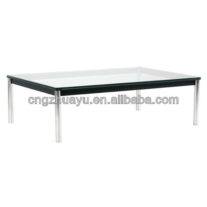Le corbusier mesa de centro retangular moderno meados for Mesa cristal le corbusier