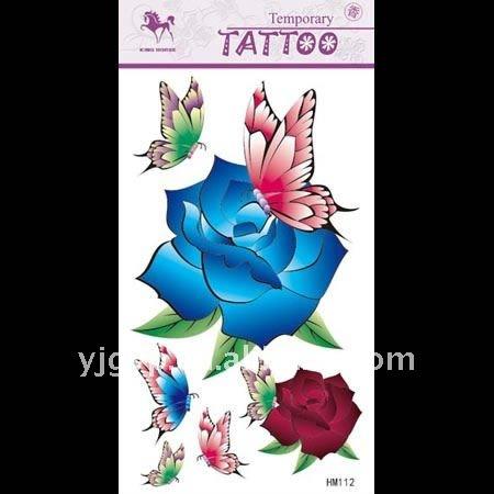 Tatto Borboleta on Eco   Friendly Tempor  Ria Borboleta E Flores S  Rie Tatuagem Adesivos