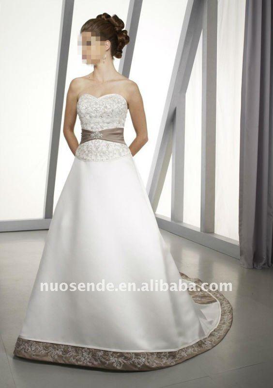 Spedizione gratuitain abiti da sposa couture crema abito da sposa