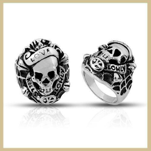 Unique Black Tungsten Men Ring