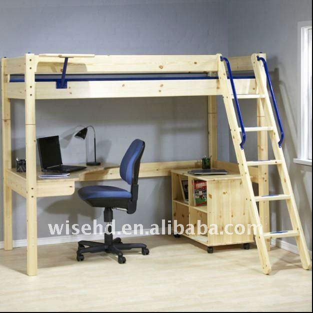 Wjz b28 s lido de madera de pino cama litera con - Camas literas con escritorio ...
