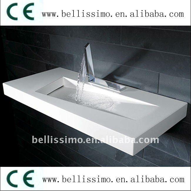 lavabo de salle de bains en pierre de r sine bs 8402. Black Bedroom Furniture Sets. Home Design Ideas