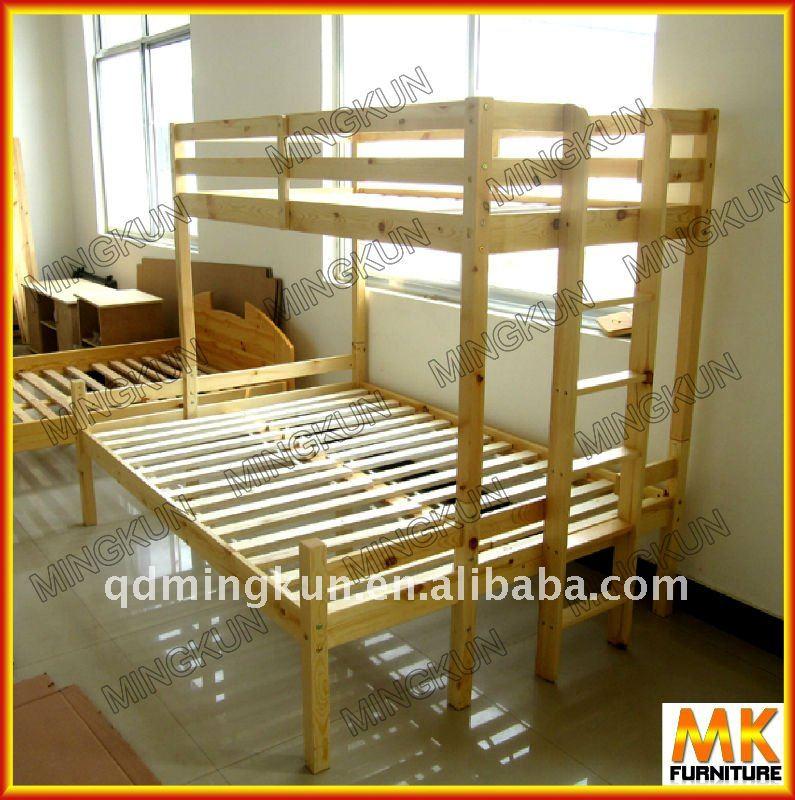 Madera litera con listones camas identificaci n del - Cama litera de madera ...
