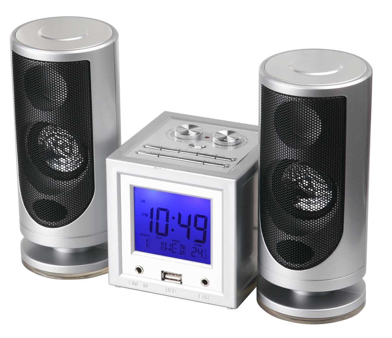 رادیو شیک --- عکس با کیفیت و بزرگ از رادیو و ساعت زنگدار با اسپیکر