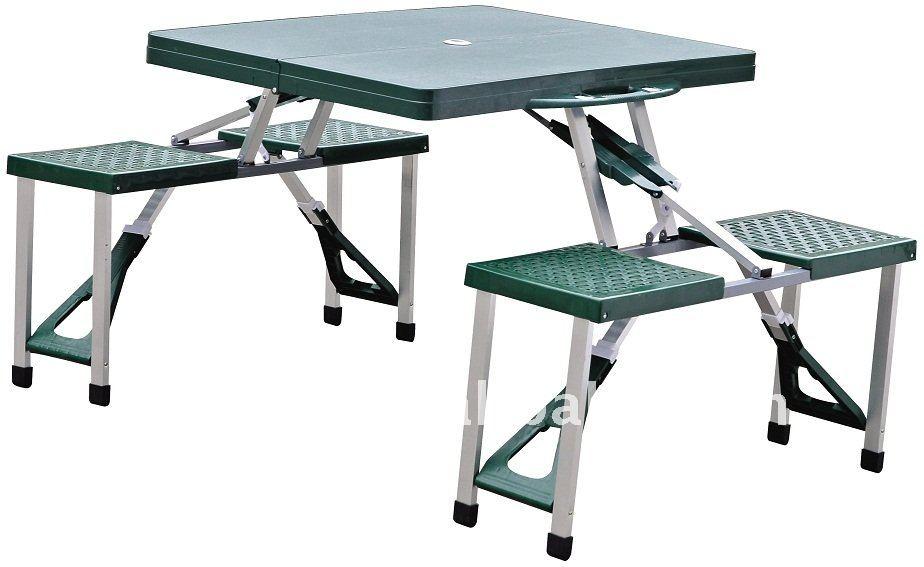 Al aire libre de pl stico plegable camping mesa de picnic for Mesa plegable plastico